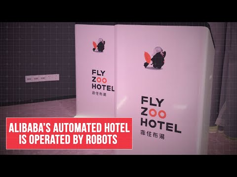 At Alibaba's FlyZoo futuristic hotel, robots run the show